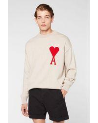 AMI De Coeur Oversize Crewneck Sweater - Multicolour