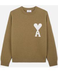 AMI Ami De Coeur Oversize Sweater - Multicolour