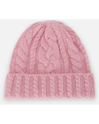 AMI Cable Knit Beanie - Pink
