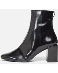 AMI Zipped Block Heel Boots - Black