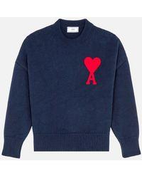 AMI - Oversize Ami De Coeur Sweater - Lyst
