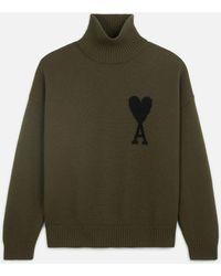 AMI Ami De Coeur Oversize Sweater - Green