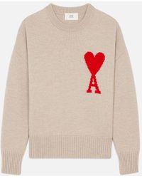 AMI Ami De Coeur Oversize Sweater - Multicolor