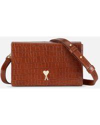 AMI Small Box Bag - Brown
