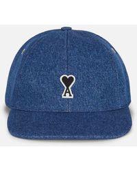 AMI Cap With De Coeur Patch - Blue