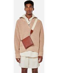 AMI Zipped Collar Sweater - Multicolor
