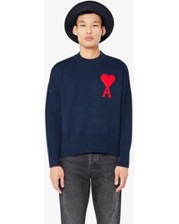 AMI Oversize Ami De Coeur Sweater - Blue
