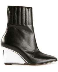 Courreges | Plexiglass Leather Wedge In Black | Lyst
