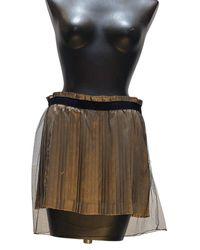 Undercover Pleated Mini Skirt - Black