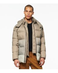 Andrew Marc Dovers Synthetic Down Colour Block Puffer Jacket - Gray
