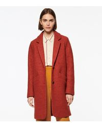 Andrew Marc Paige Wool Boucle Coat - Red