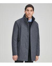 Andrew Marc Coyle Wool Car Coat - Gray