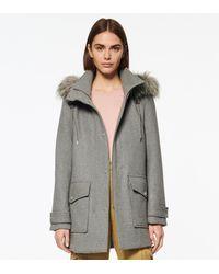 Andrew Marc Montagne Wool Duffle Coat - Gray