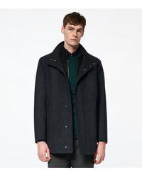 Andrew Marc Coyle Wool Car Coat - Grey