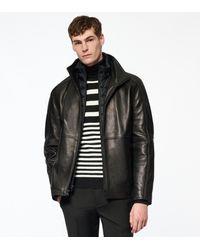 Andrew Marc Hartz Leather Jacket - Black