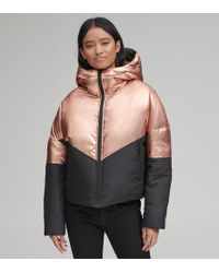 Andrew Marc - Luna Metallic Down Jacket - Lyst