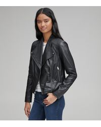 Andrew Marc Bayside Leather Scuba Jacket - Black