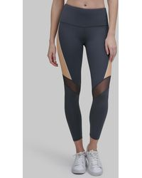 Andrew Marc High Waist Compression LEGGING With Mesh Detail - Multicolour