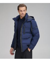 Andrew Marc Huxley Quilted Down Coat - Blue