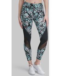 Andrew Marc Ink Drop Printed LEGGING With Mesh Detail - Multicolour