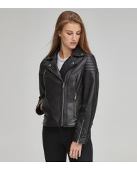 Andrew Marc - Taylor Leather Biker Jacket - Lyst