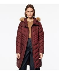Andrew Marc Miranda Chevron Quilted Down Jacket - Red