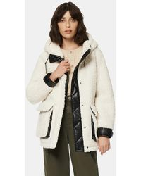 Andrew Marc Saros Faux Fur Jacket - White