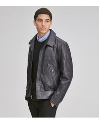 Andrew Marc Morrison Shirt Collar Leather Jacket - Multicolor