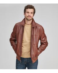 Andrew Marc - Vaughn Leather Bomber - Lyst