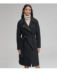 Andrew Marc Woodrow Wool Belted Coat - Black