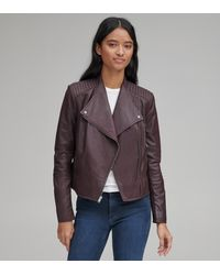 Andrew Marc Pelham Leather Scuba Jacket - Multicolour