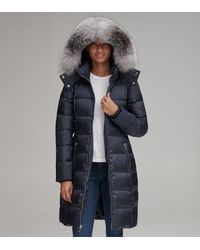 Andrew Marc Jolene Long Down Jacket - Blue