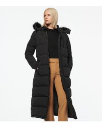 Andrew Marc Totowa Synthetic Down Long-line Puffer Coat - Black