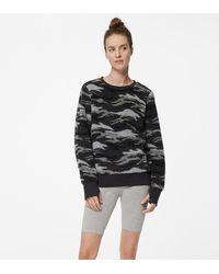 Andrew Marc Sherpa Crewneck Sweatshirt - Grey