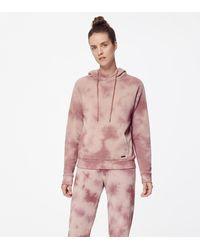 Andrew Marc Tie Dye Fleece Hoodie - Pink