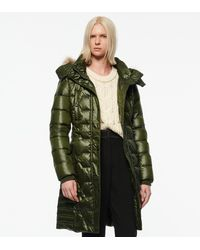 Andrew Marc Plymouth Belted Quilt Down Coat - Green