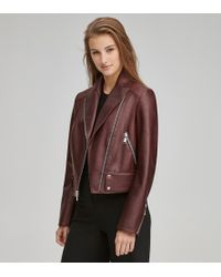 Andrew Marc - Paley Pebble Leather Moto Jacket - Lyst