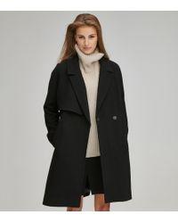 Andrew Marc Kalon Wool Coat - Black