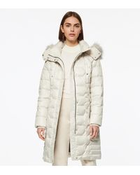 Andrew Marc Plymouth Belted Quilt Down Coat - Natural