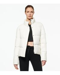 Andrew Marc Alex Faux Leather Super Puffer Jacket - White