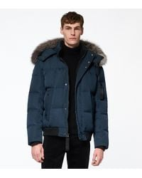Andrew Marc Bennett Quilted Down Puffer - Blue