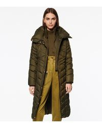Andrew Marc Merlette Chevron Quilted Long-line Puffer - Green