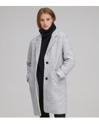 Andrew Marc Paige Wool Boucle Coat - Gray