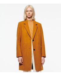 Andrew Marc Paige Wool Melton Boucle Coat - Orange