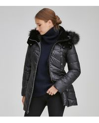 Andrew Marc Shirley Plus Synthetic Down Puffer Jacket - Black