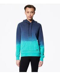 Andrew Marc Long Sleeve Dip Dye Pullover Hoodie - Blue