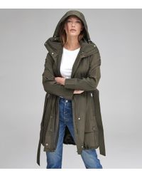 Andrew Marc Navarre Belted Trench - Green