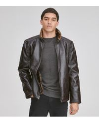Andrew Marc - Caldwell Faux Leather Jacket - Lyst