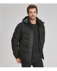 Andrew Marc Huxley Quilted Down Coat - Black