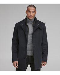 Andrew Marc Westcott Wool Car Coat - Blue